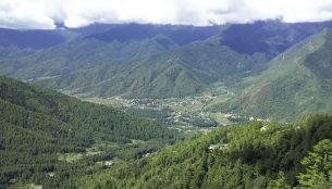 ブータンの山の風景
