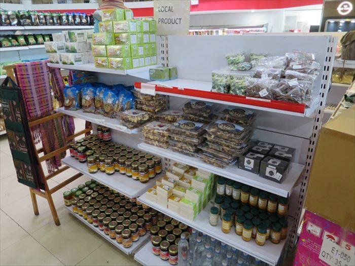ブータン製品のコーナー