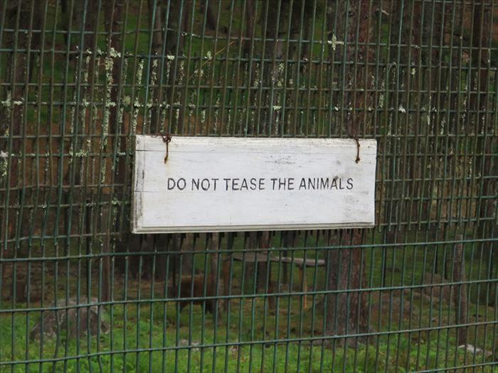 ターキン保護区の注意書き