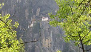 第一展望台から見たタクツァン僧院