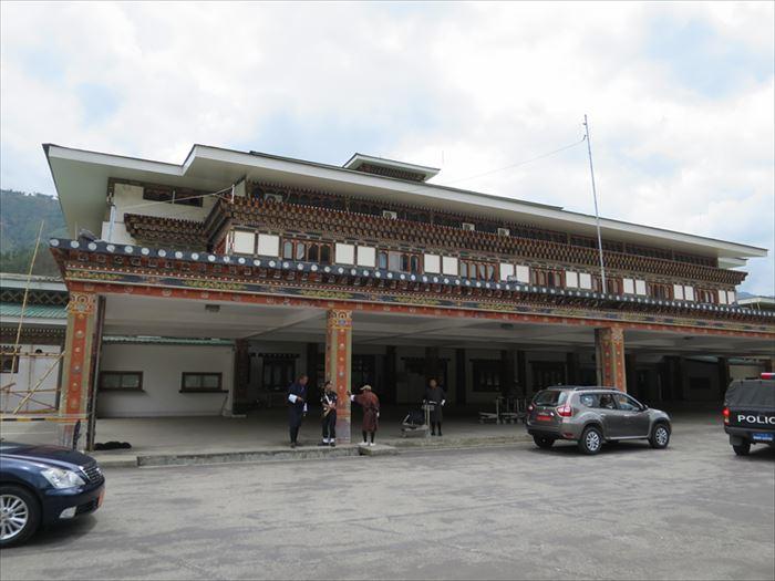 パロ空港の出発ターミナル