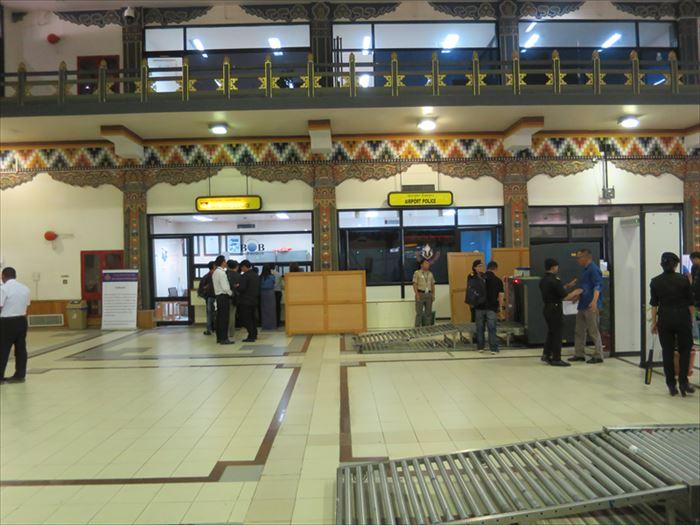 パロ空港の両替所
