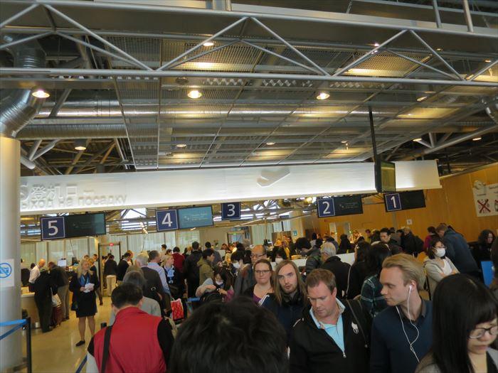 ヴァンター空港のセキュリティチェック