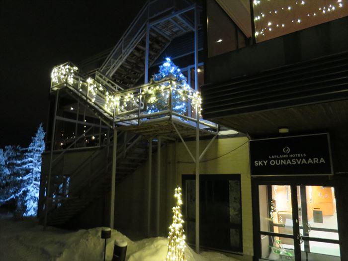 スカイホテル・オウナスヴァーラの屋上へ