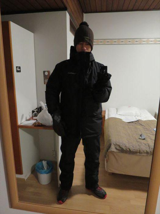 オーロラを見るための防寒着
