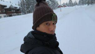 冬のフィンランドで帽子は必須