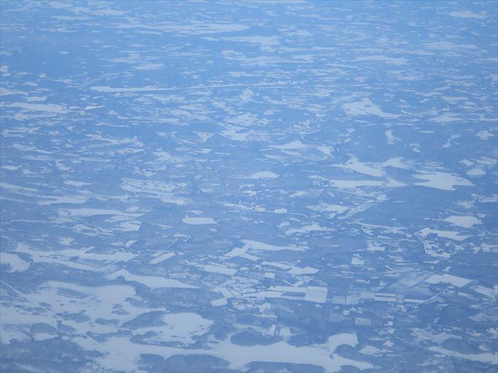 飛行機から見た湖沼群