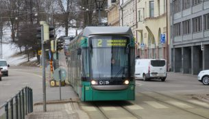 ヘルシンキのトラム(路面電車)