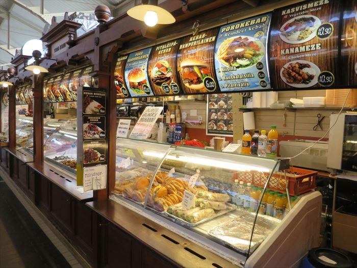 オールドマーケット内の食事