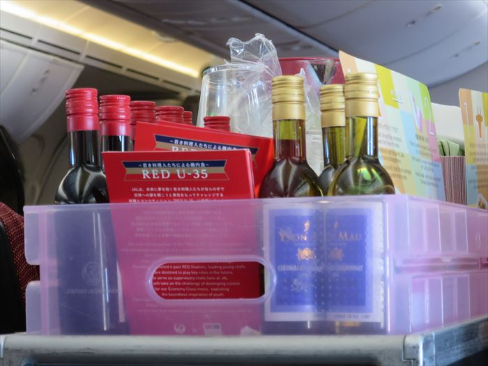 JAL機内のワイン