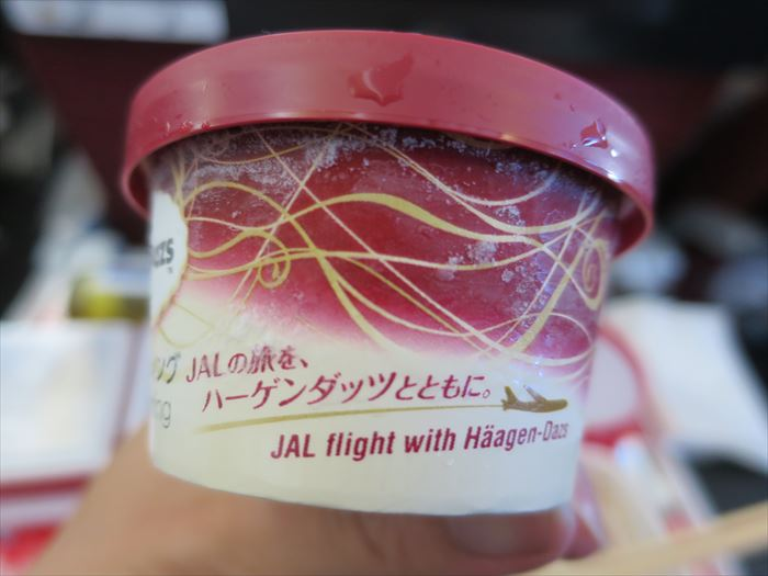 JAL機内で配られたアイス