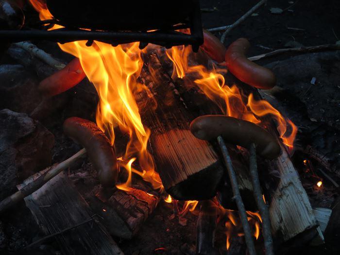 森で焚き火