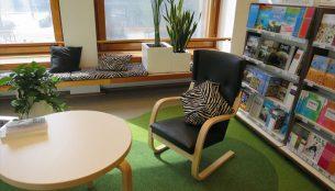アカデミア書店の休憩スペース