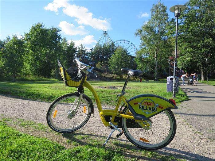 シティバイクとリンネンマキ遊園地