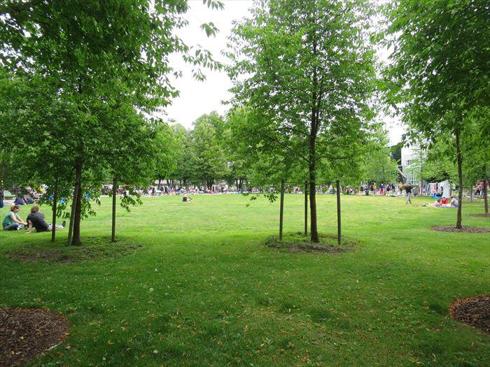 ムーミン美術館の隣にある公園
