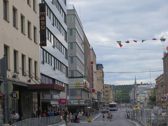 タンペレのメインストリート