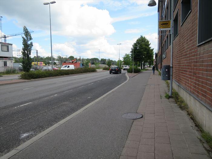 トゥルク駅周辺の道路