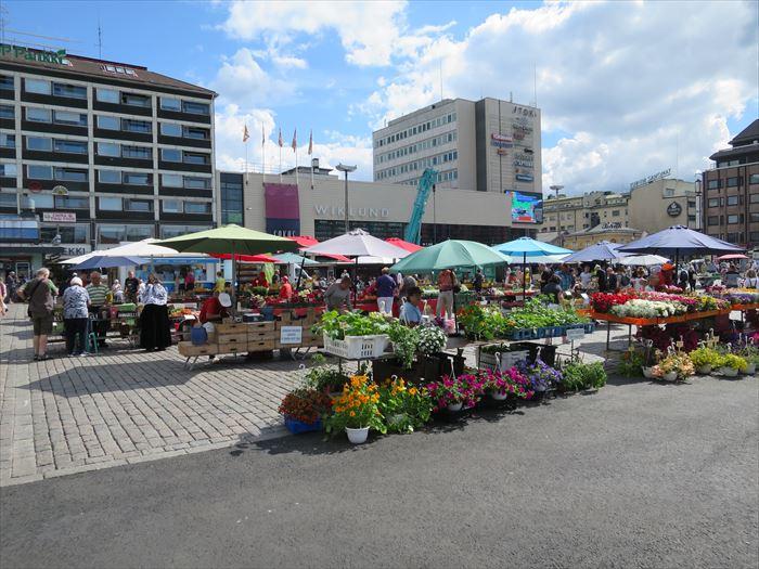 トゥルクのマーケット広場