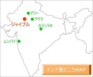 ジャイプルの地図
