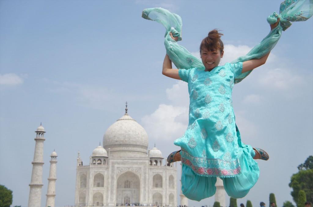 思いきりジャンプして写真を!