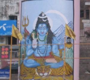 シヴァ神の頭から流れ出るガンジス川