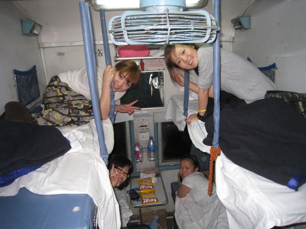 夜行列車で女子会!