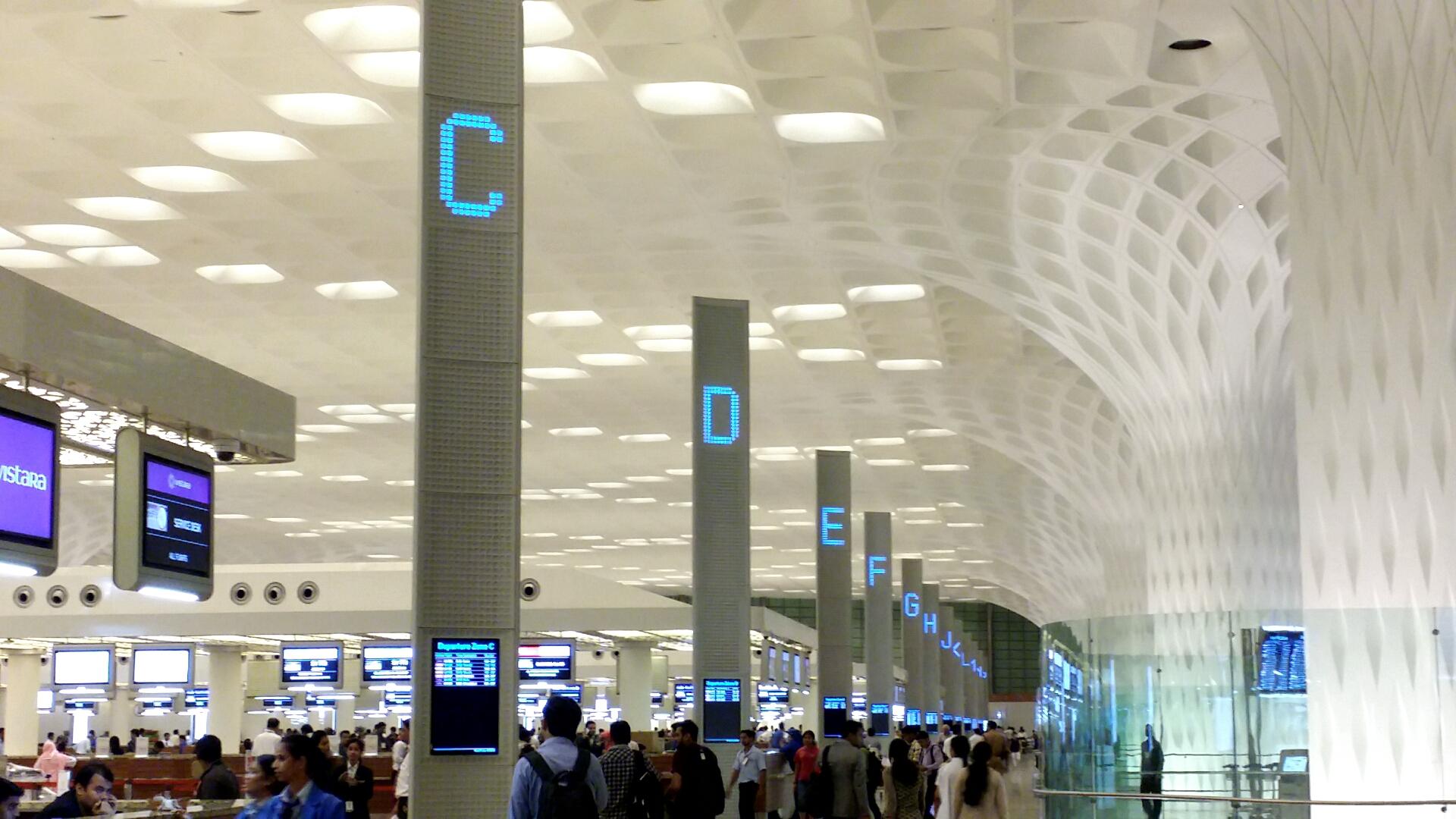 ムンバイ空港 国際線出発