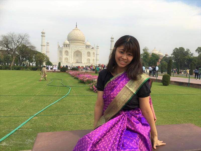 世界一美しい霊廟とうたわれる世界遺産「タージマハル」には写真撮影スポットがたくさん!!!サリーを着て、映え写真を撮ってみよう~!!!