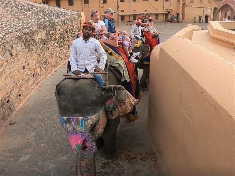 象のタクシーに揺られながらアンベール城へ...♡*