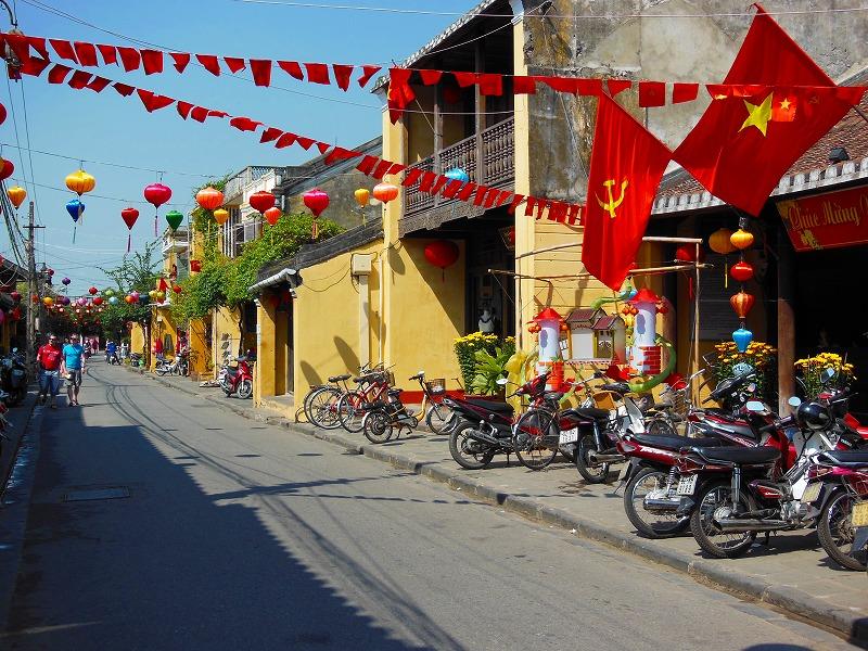 ベトナム ホイアン 街並み