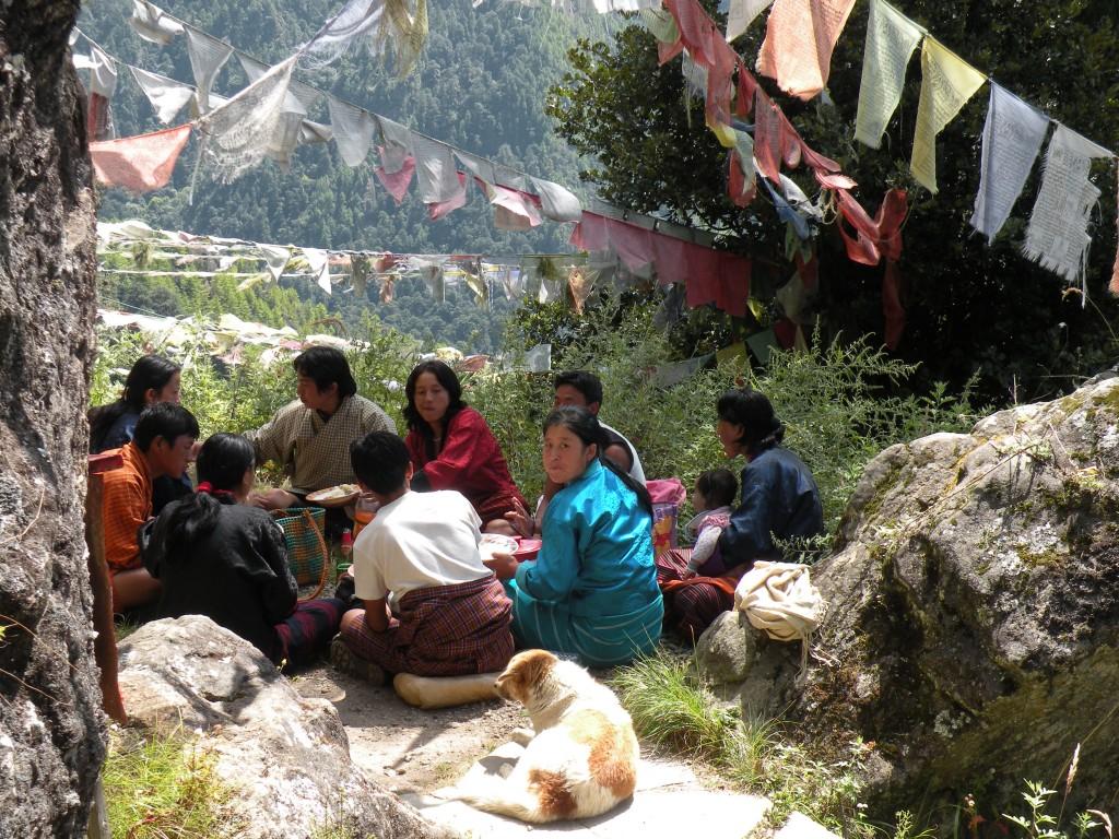 ブータン人の家族