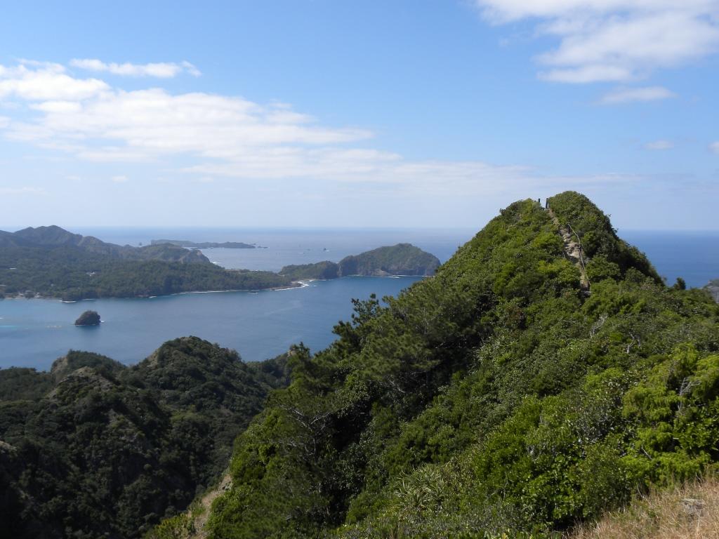 母島の乳房山