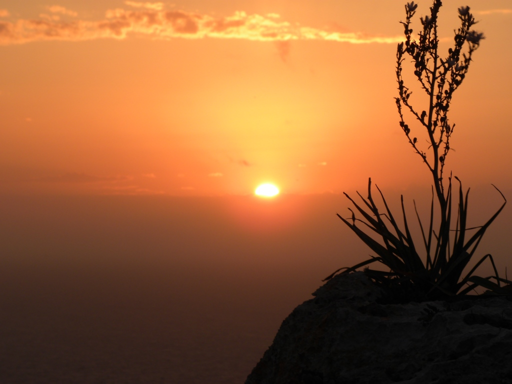 ディングリクリフの夕陽