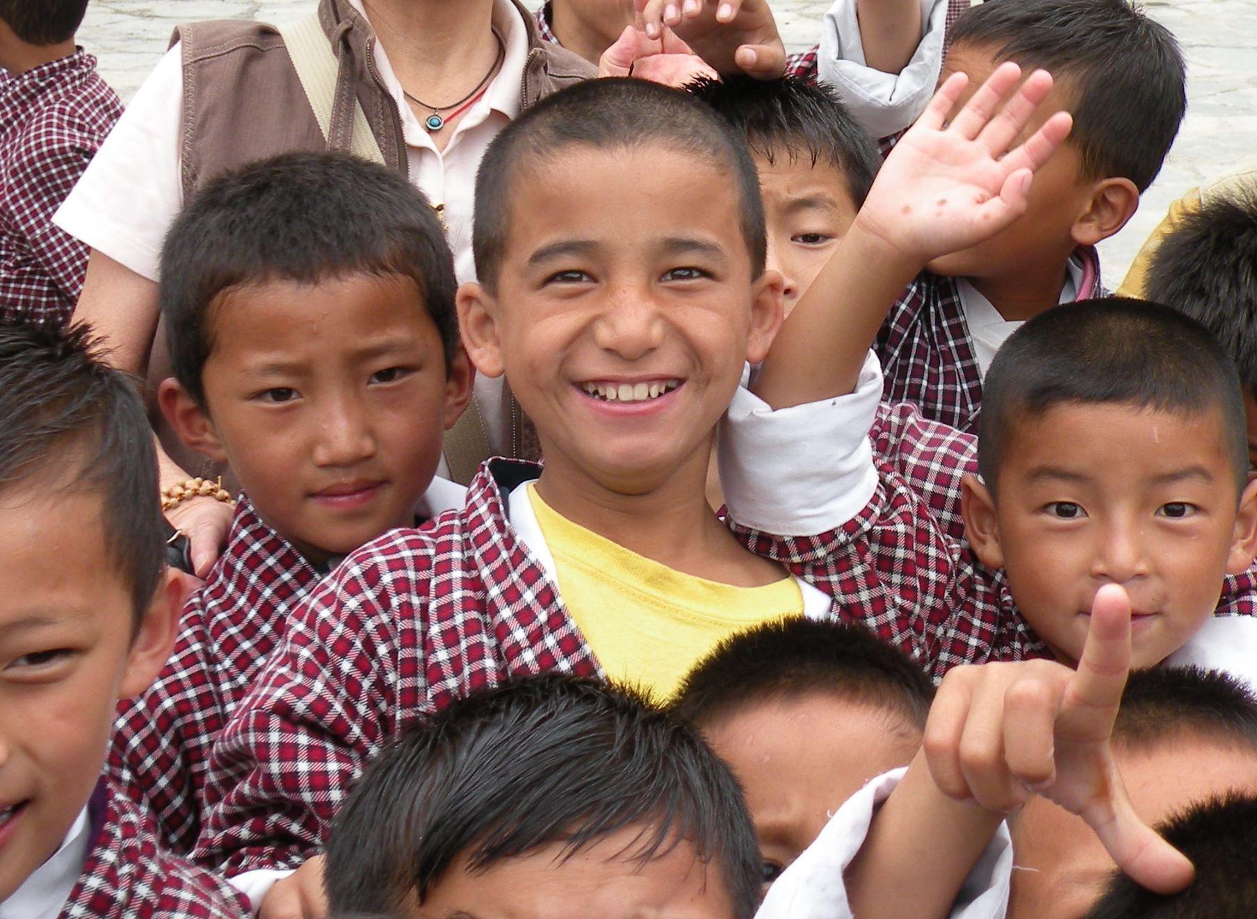 ブータンの笑顔