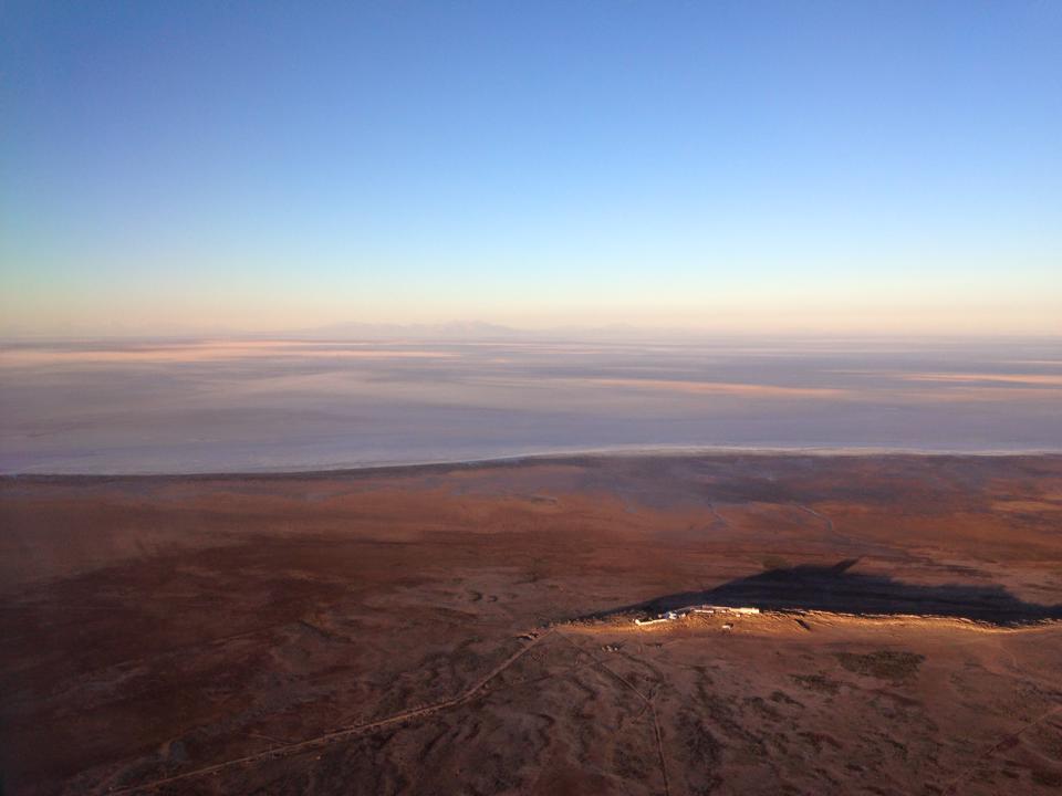 空から見たウユニ塩原