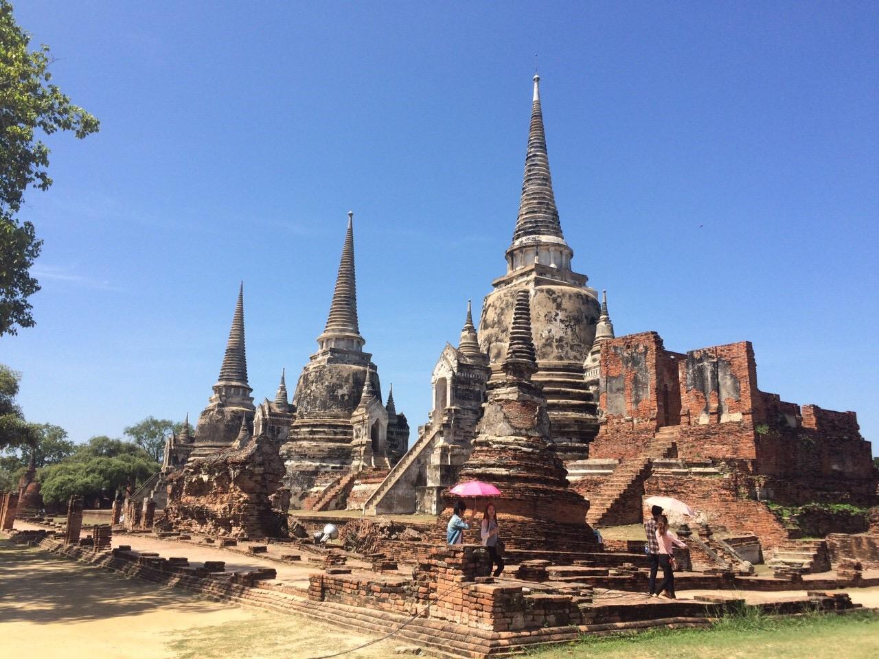 タイ 古都アユタヤで たくさんの歴史的な遺跡と王宮を見てき