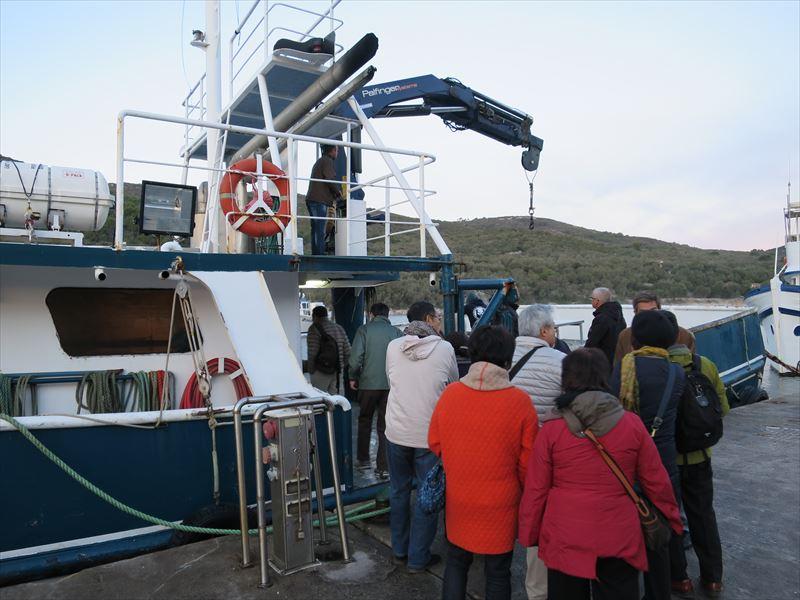 クロアチアのマグロ漁船