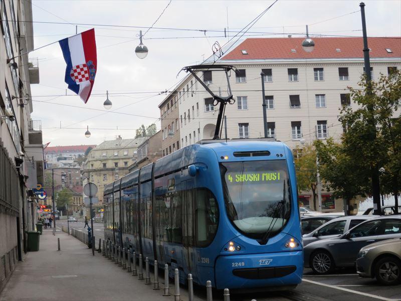 ザグレブの路面電車