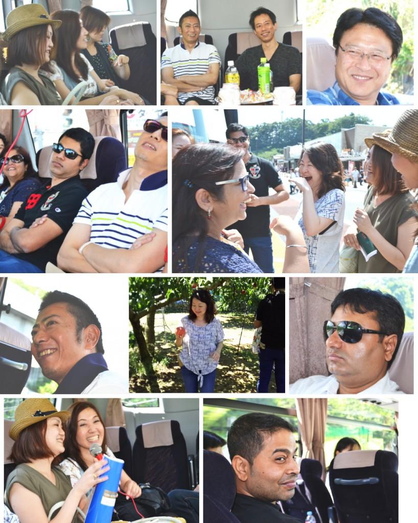 バスツアー参加者の表情
