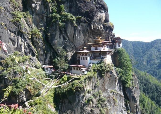 ブータンのタクツァン僧院