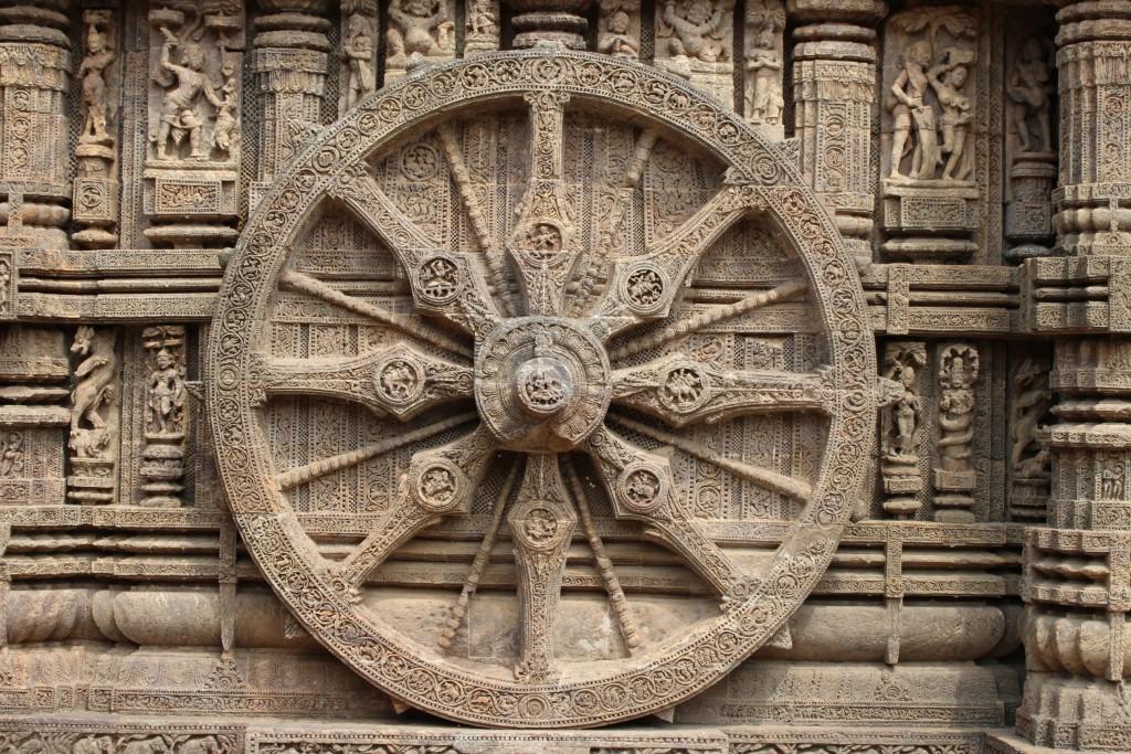 スーリヤ寺院の大車輪
