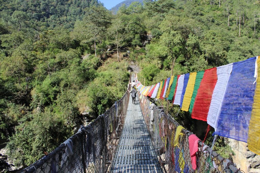 東ブータンの吊り橋