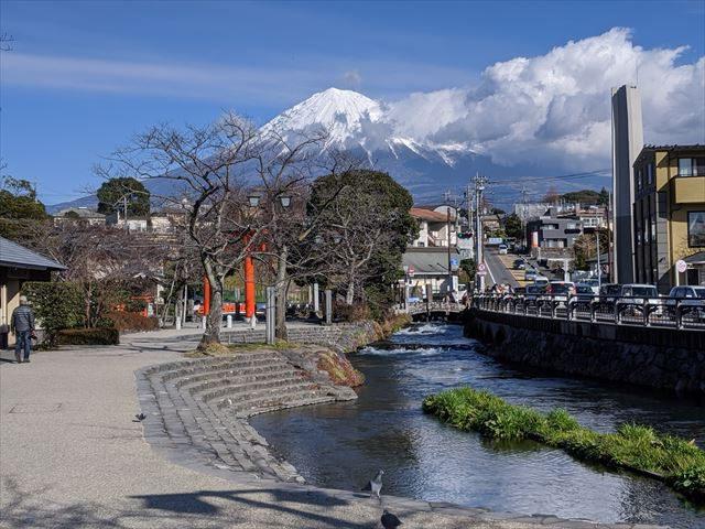 富士山と神田川