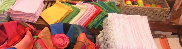 スリランカの布製品