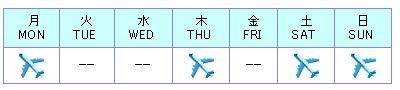 フライトスケジュール(成田-コロンボ)