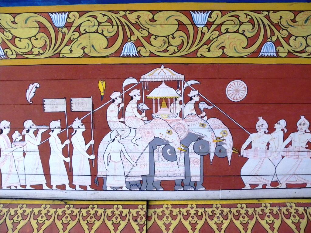 仏歯寺の壁画