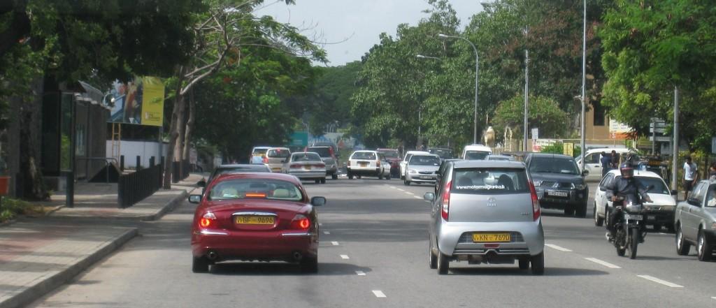 コロンボの道路の様子