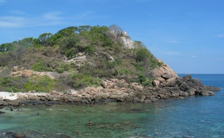 トリンコマリーの近くにある無人島