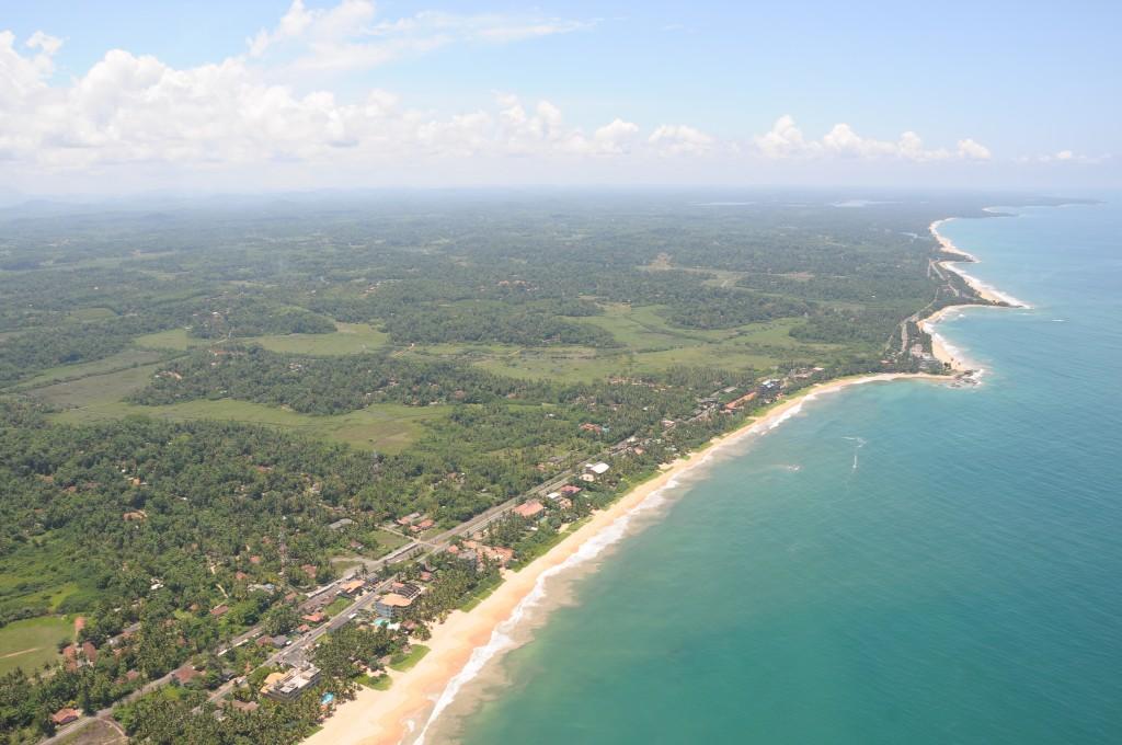 スリランカの海岸線