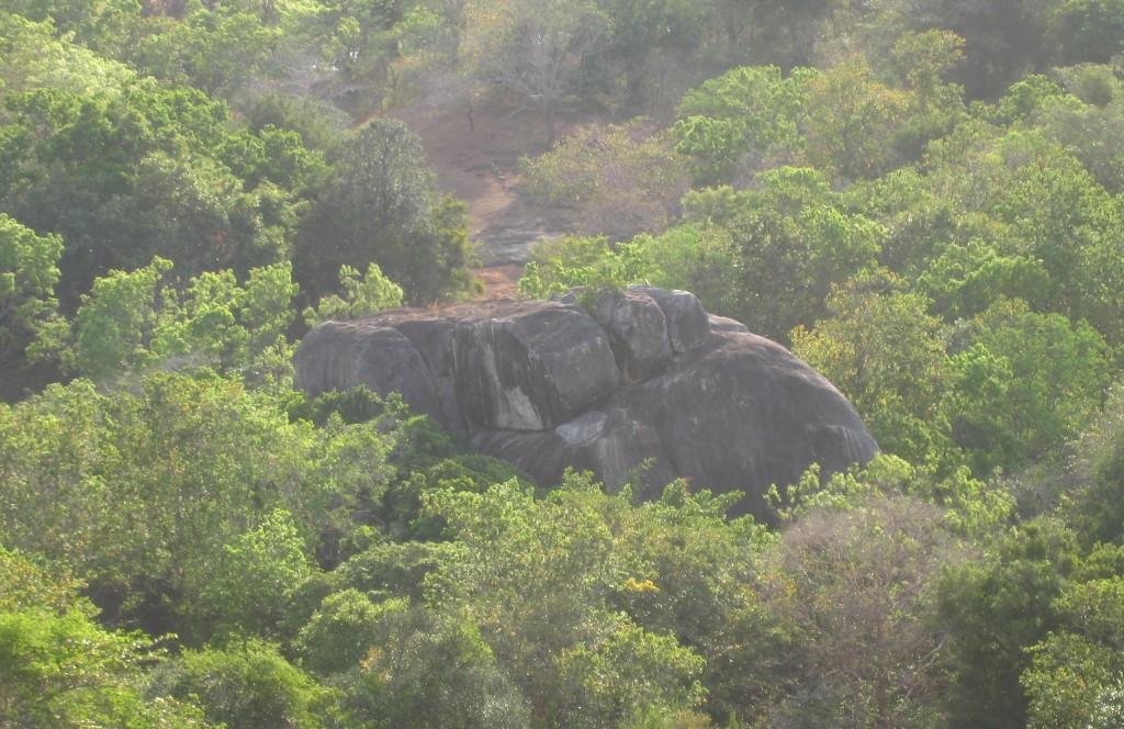シギリヤロックから見える通称「象の岩」